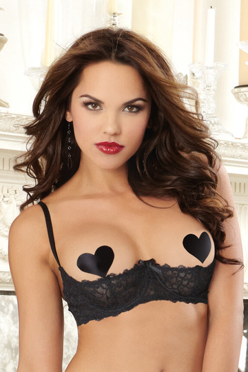 Stretch Lace Open Cup Shelf Bra