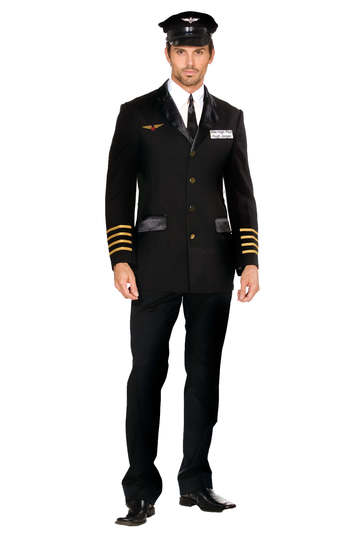 Mile High Hugh Jorgan Pilot Men's Costume