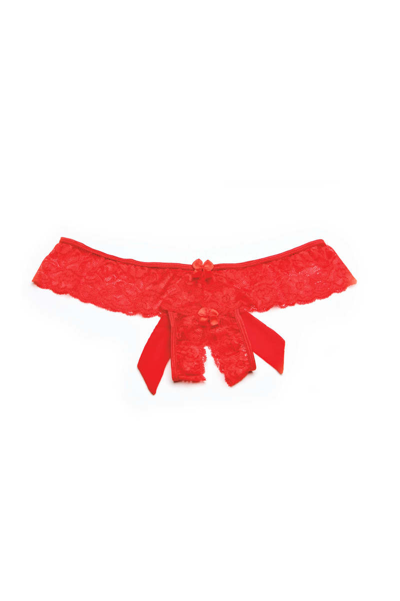 Bow Detail Open Crotch Panty