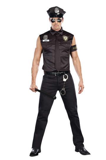 Dirty Cop Officer Ed Banger Men's Costume