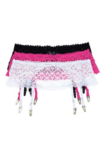 Plus Size Stretch Lace Garter Belt