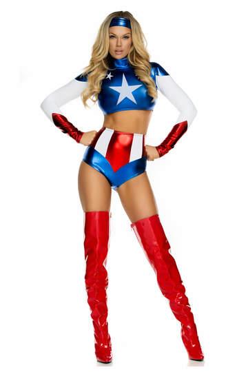 Pretty Patriot Hero Cosutme
