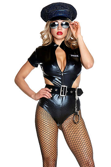 Edgy Enforcement Sexy Cop Costume