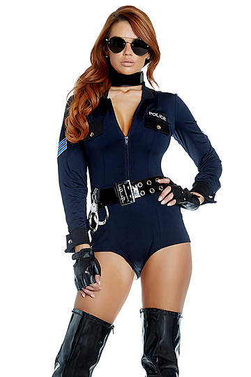 Racy Reinforcement Cop Costume