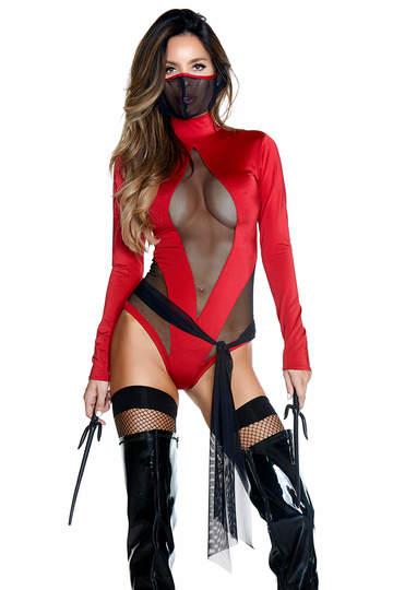 Red Ninja Superhero Costume