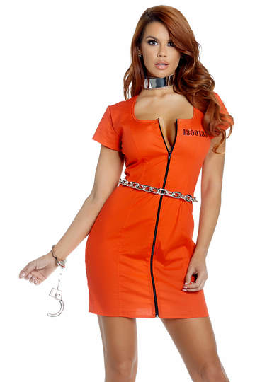Guilty Glam Convict Costume