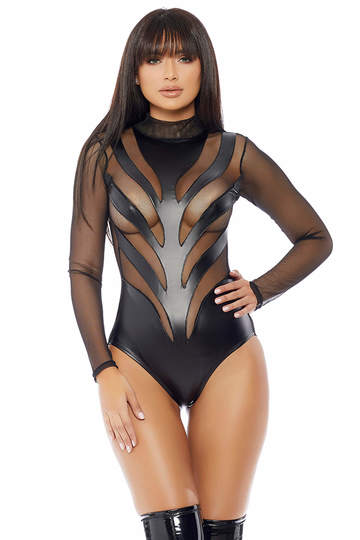 Excitement Mock Neck Bodysuit