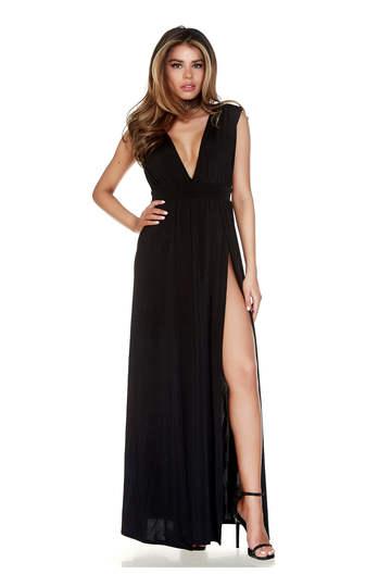 Even Split Sleeveless Gown
