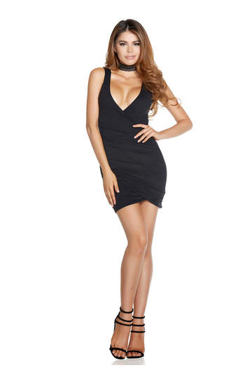 Dip Down Mini Dress