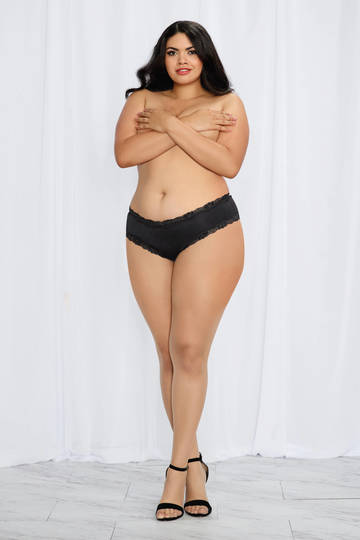 Lace-up Back Cheeky Plus Size Panty