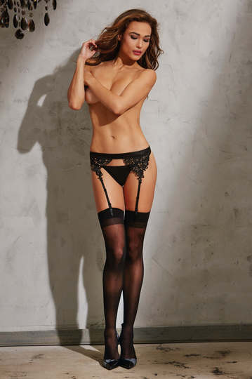 Venice Lace Trim Garter Belt