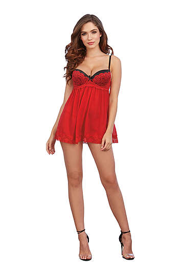 Whimsical Lace Babydoll