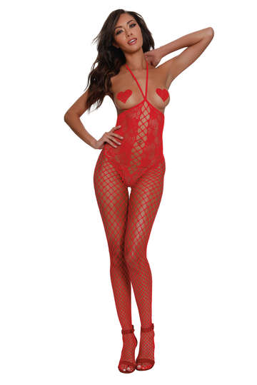 Knitted Open Cup Bodystocking