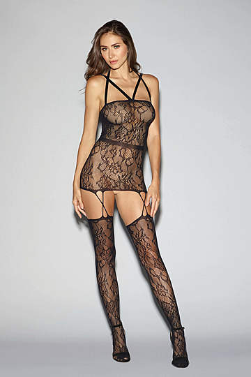 Criss Cross Garter Dress