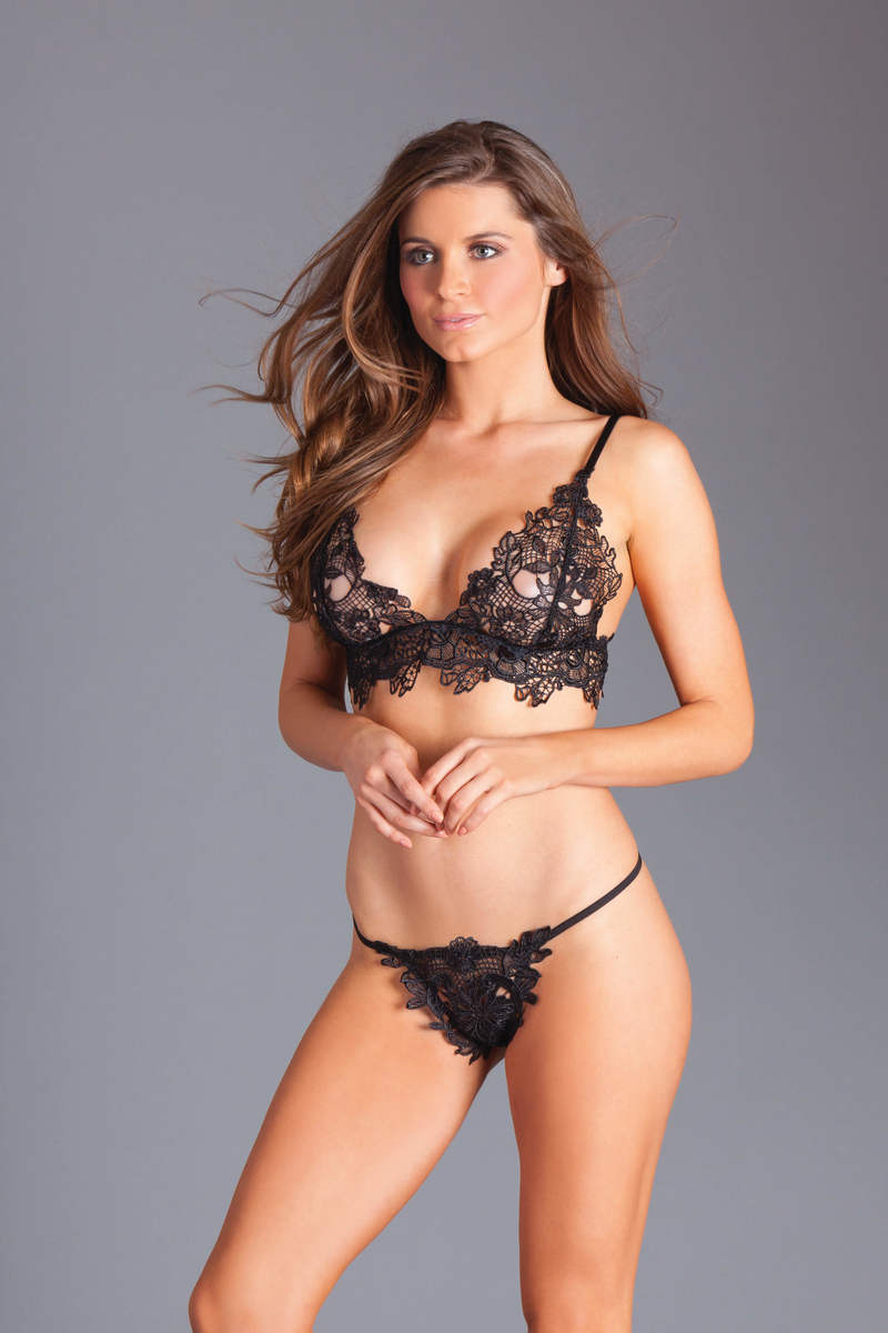 92f019538a90 Aaliyah Floral Lace Bra & Panty Set by Be Wicked - Foxy Lingerie