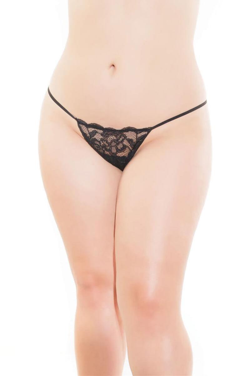 Stretch Lace Plus Size G-String Panty