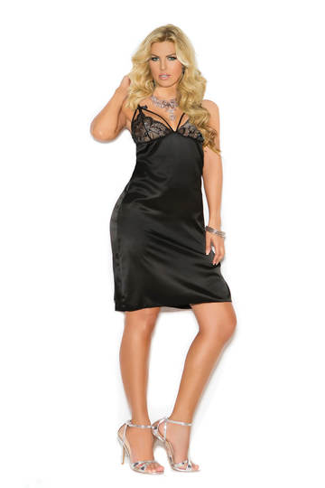Esme Charmeuse Plus Size Gown