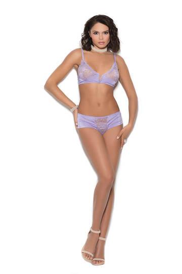 Laylani Satin Bralette & Panty Set