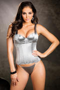 Sleek Satin Spandex Corset Top