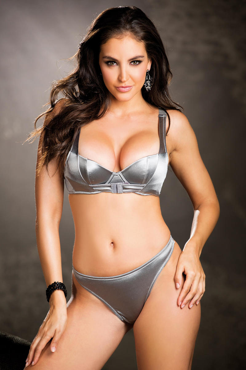 Satin Spandex Bra Set