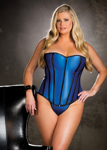 Heavy Satin Strapless Plus Size Corset Top