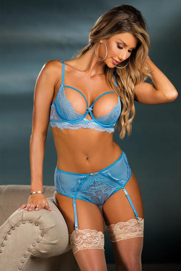 Gorgeous Stretch Lace & Mesh High Waisted Panty