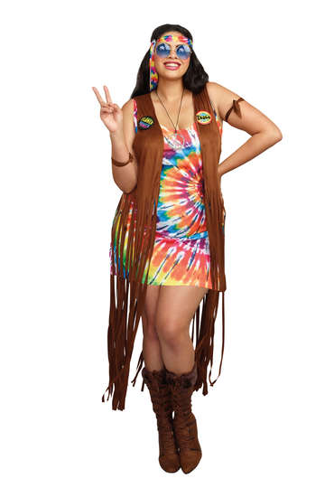 Hippie Hottie Plus Size Women's Costume