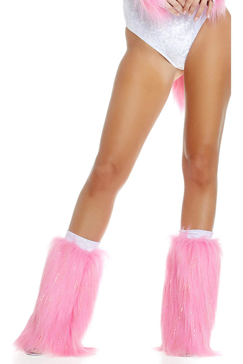 Metallic Furry Legwarmers