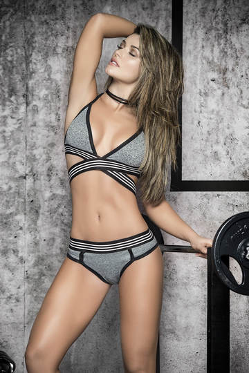 Athletic Criss Cross Top & Panty Set