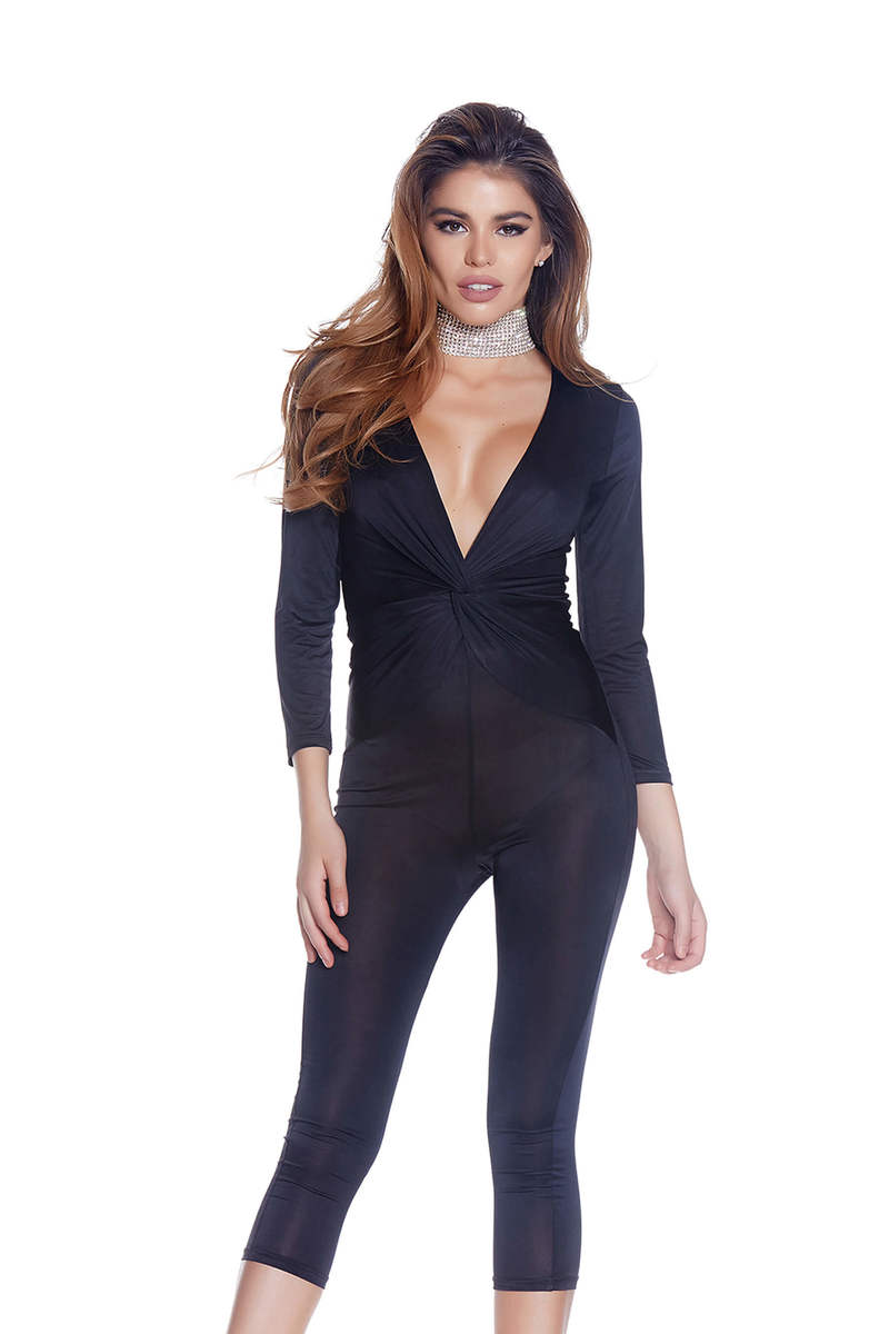 Knot Thinking About You Capri Jumpsuit