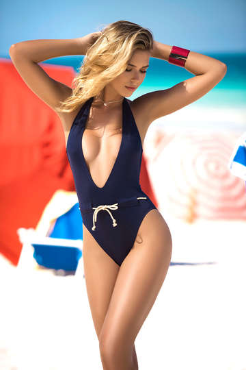 Flaunting Plunge One Piece Swimsuit