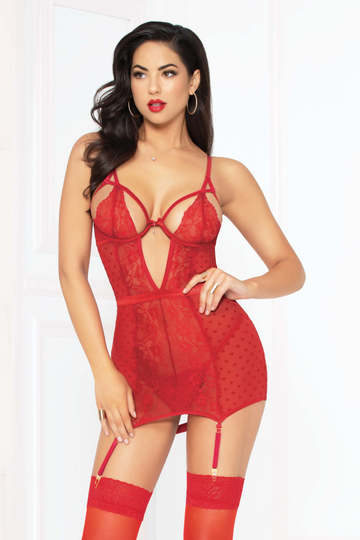 Love Affair Holiday Chemise Set