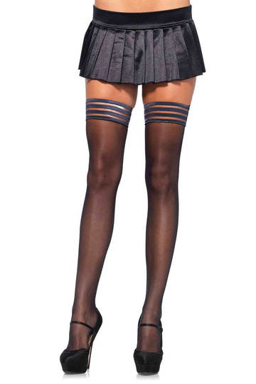 Striped Stay Up Thigh Highs