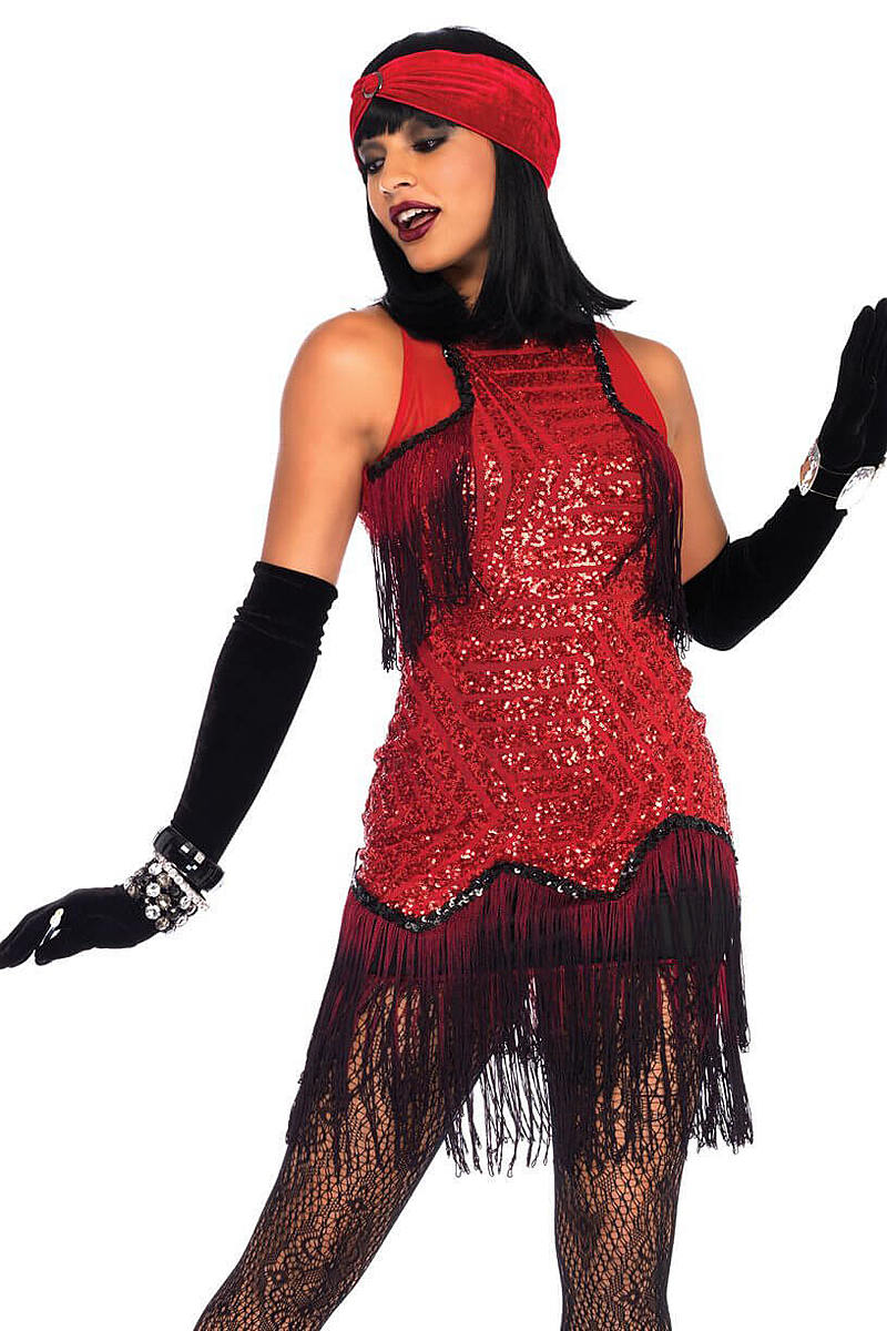 Gatsby Girl Sequin Flapper Costume