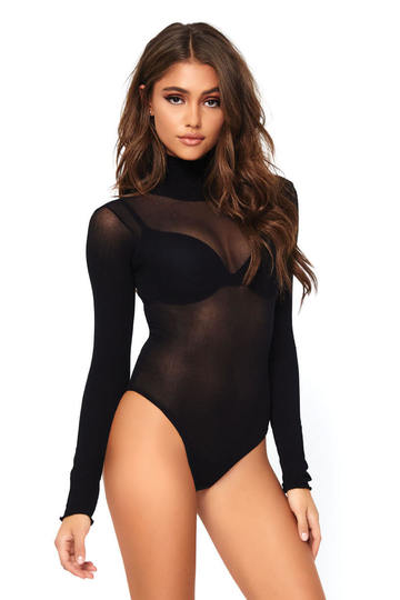 Opaque High Neck Bodysuit
