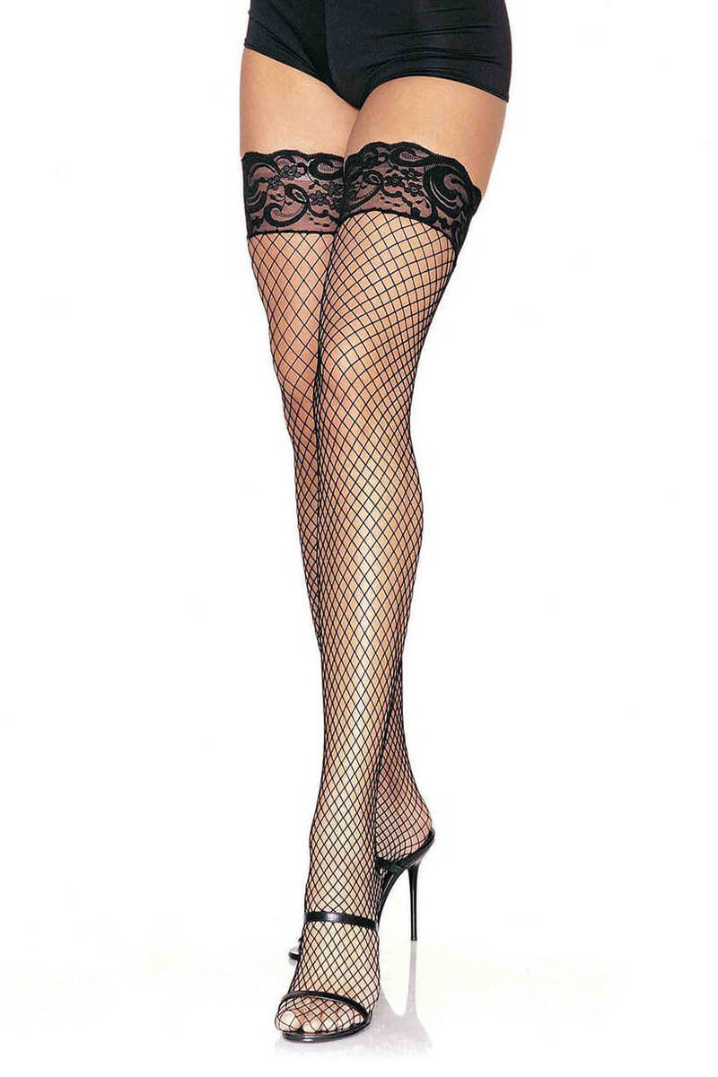 Stay Up Industrial Fishnet Thigh Highs