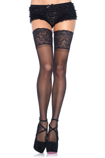Lycra Stay Up Sheer Thigh Highs