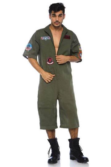 Top Gun Men's Short Flight Suit Costume