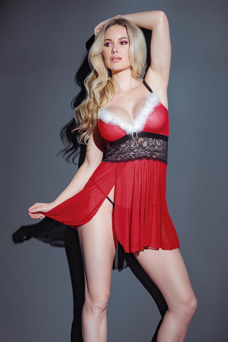 Miss Holiday Babydoll & G-String