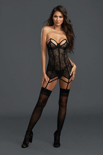 Architectural Stretch Lace Garter Slip