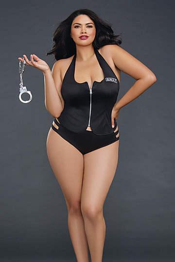 Swat Me Plus Size Lingerie Costume