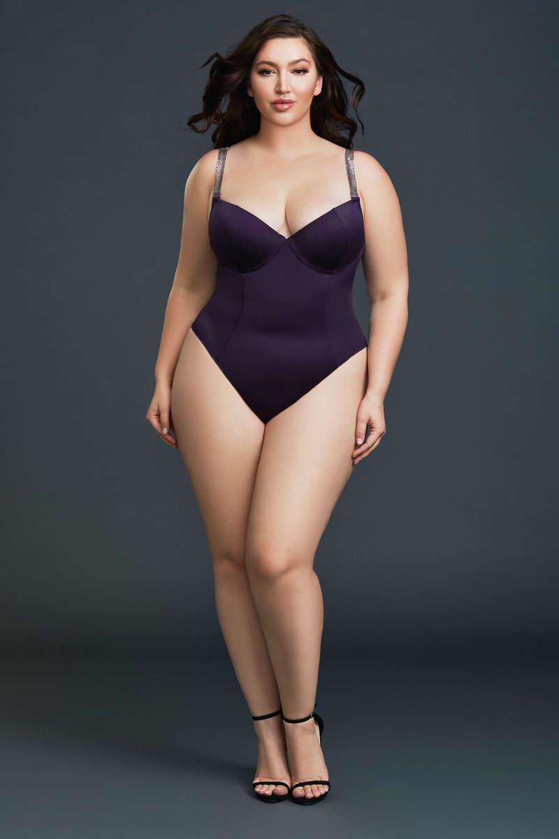Microfiber Plus Size Bodysuit