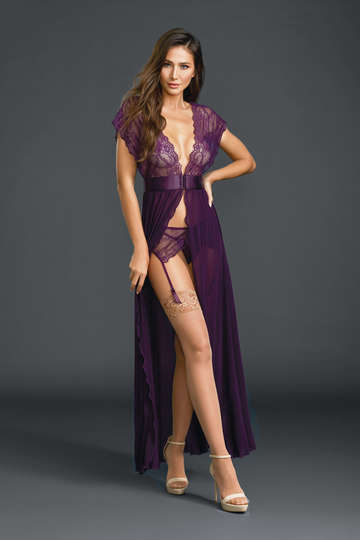 Flyaway Lace Gown Lingerie Set