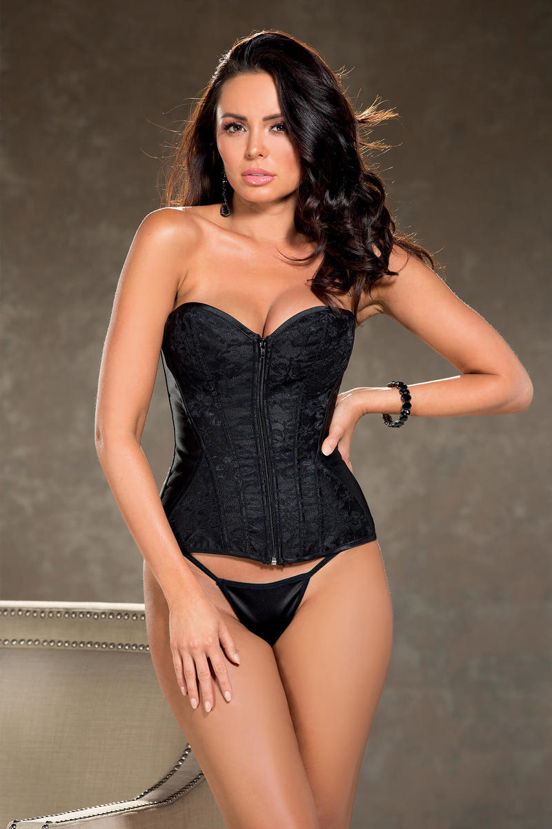 Majestic Lace & Satin Overlay Corset