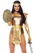Golden Warrior Sexy Gladiator Costume