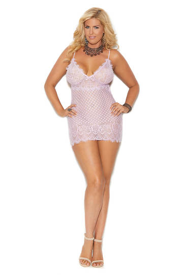 Diamond Design Plus Size Babydoll