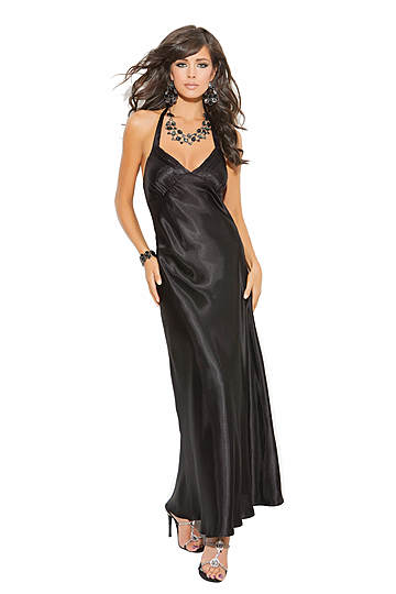 Charmeuse Satin Halter Gown