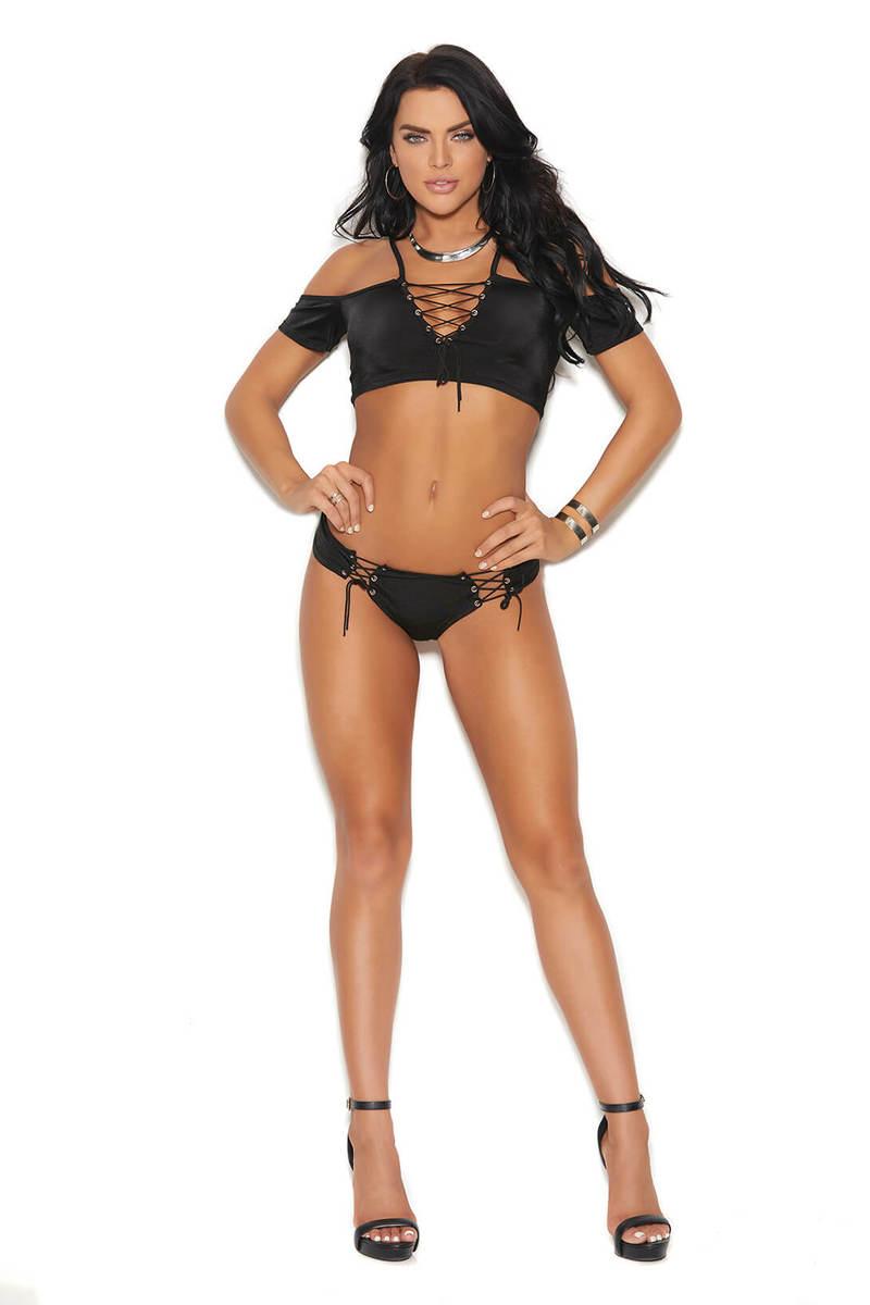 Lycra Cami Top & Booty Shorts Set