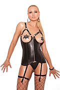Open Bust Leather Corset