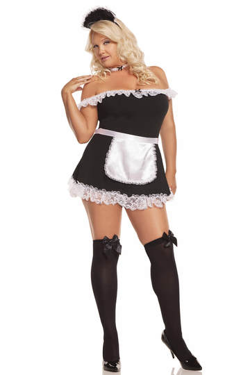 Plus Size Sexy Miss Maid Costume